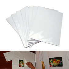 10pcs A4 Iron-On T-Shirt Inkjet Print Heat Transfer Paper For Light Fabric Cloth