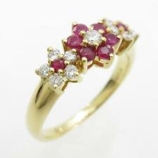 Authentic Ponte Vecchio Flower Ruby ring  #260-001-570-7963