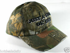 GOOD OL' BOY CAMO HUNTING CAP DISTRESSED LOOK COTTON REDNECK HUNTER HILLBILLY