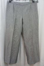 Le Suit Petite Pants Sz 16P Silver Multi Royal Garden Business Dress Slacks
