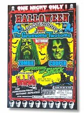 """ALICE COOPER ROB ZOMBIE """"HOOTENANNY"""" 2010 TOUR POSTER LITHOGRAPH LICENSED"""