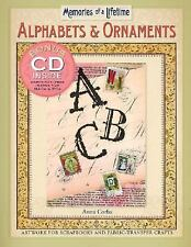 Memories of a Lifetime Alphabets and Ornaments: Artwork + CD ~ Fabric Transfer