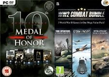 Medal Of Honor 10th Anniversary edition & ww2 world war 2 two combat bundle  n/s
