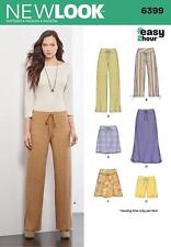 NEW LOOK SEWING PATTERN MISSSES' 3 HOUR EASY SKIRT PANTS SHORTS SIZE 6-16  6399
