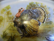 Vintage Turkey Platter Gray Border  Medium Size