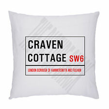 FOOTBALL GROUND STREET SIGN CUSHION / PILLOW INC PADDING. FULHAM