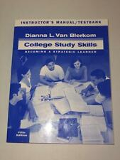 College Study Skills Becoming A Strategic Learner 5th Ed Instructors Manual -T16
