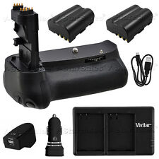 Battery Grip for Canon EOS 60D + 2x LP-E6 Batteries + AC/DC Dual Charger Kit