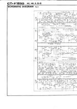 Schematic Diagrams Schema for Pioneer CT-F1250