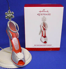Hallmark Ornament Put On Your Party Shoes 2013 Glittery Open-Toe Ankle Strap NIB