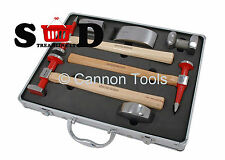 7 PC VEHICLE PANEL BEATING BODY REPAIR PAINT PREPPING HAMMER DOLLIES KIT CT2138