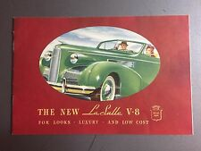 1939 Cadillac LaSalle Showroom Advertising Sales Brochure RARE!! Awesome L@@K