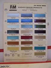 1969 Chrysler 300 Newport Imperial New Yorker Paint Chips Color Chart R-M 69