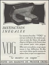 Publicité Montre VOG  Montres Watch photo vintage print ad  1927  - 5h