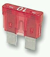 FUSIBLE  10 AMP 25 PACK COCHE MOTO BLADE FUSE