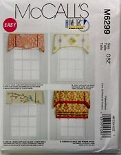 McCalls Sewing Pattern 6299 Window Treatments Valance Roman Shade  NEW