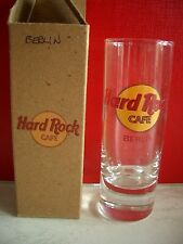 HRC hard rock cafe Berlín Classic logotipo red Letter shot glass vasos de ginebra