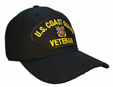 Coast Guard Veteran Hat Black Ball Cap