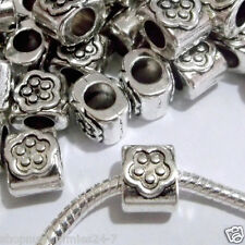 50 pc Lot EUROPEAN CHARM METAL SPACER BEADS for bracelet Q02 Ships from USA