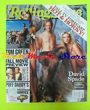 ROLLING STONE USA MAGAZINE 821/1999 Orgy jay Gordon Jay Bakker Tom Green  No cd