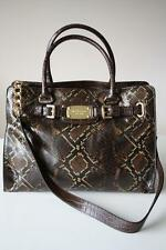 MICHAEL KORS LEDERTASCHE/Shopper HAMILTON BAG Python chocolate %%%%%