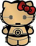 Hello Kitty C3PO Car Window Wall Macbook Notebook Laptop Sticker Decal