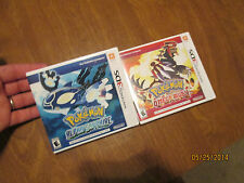 POKEMON ALPHA SAPPHIRE & POKEMON OMEGA RUBY NINTENDO 3DS LOT 2 GAMES AUTHENTIC