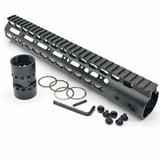 "Ultra light  15"" Free Float Handguard Slim Keymod Rail, Free Barrel Nut"