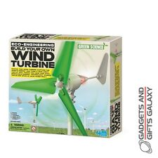 BUILD YOUR OWN WIND TURBINE TURNS ENERGY INTO LIGHT! discovery toy childs kids