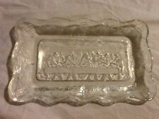 """Tiara Small Last Supper Crystal Clear Tray 5 1/2"""" x 3 1/2"""""""