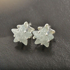 white Gold Filled Womens star crystal stud earrings free shipping