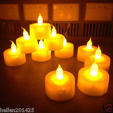 24pcs Electronic Led Battery Operated Flameless Tea Light Candles Wedding Party