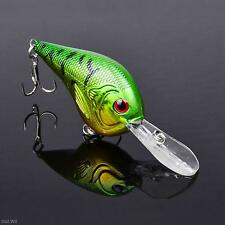 Hot! Minnow Fish Bass Fishing Lures Fishing Tackle Hook Hard Plastic Crankbait