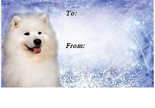 Samoyed Dog Self Adhesive Gift Labels design No. 1. by Starprint