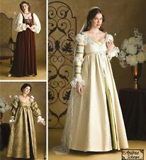 PATTERN McCALLS Queen Princess Gown Snood Veil Dress Renaissance 4 6 8 3812