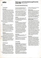 Service Manual-Anleitung für Braun Audio 250