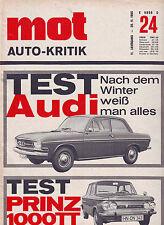 mot 24/1965 Test: Audi F103 & NSU Prinz 1000 TT//20.11.65
