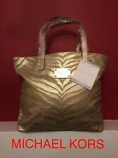 MICHAEL KORS WOMENS LADIES GOLD TIGER PRINT TOTE SHOPPER BAG Brand New With Tags