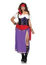 Traveling Gypsy Womens Plus Size Costume Renaissance Pirate Cosplay Size 1X-2X
