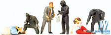 Preiser 1/87 HO Robbery Robbers And Hostages SET OF SIX FIGURES 10588