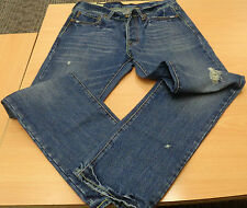 "ABERCROMBIE STRAIGHT LEG DISTRESSED JEANS  30""W /30""L"
