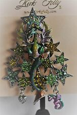 KIRKS FOLLY  CHRISTMAS CALISE DRAGON PIN/CONVERTER  IN SILVER   TONE