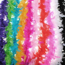 red 2M Feather Boa Strip Fluffy Craft Costume Fancy Dress Party Decoration
