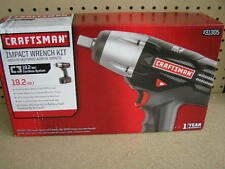 "NEW Craftsman 19.2V Cordless 1/2"" Impact Wrench Kit w NiCad Battery & Charger"