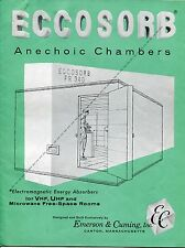 1958 Brochure & Letter Re: ELECTROMAGNETIC ENERGY ABSORBERS