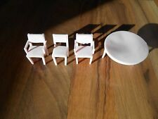 4 Old Vintage Superior Mini Dollhouse Furniture Kitchen Living Room Chairs Table