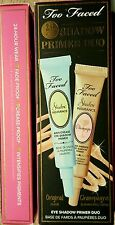 Too Faced 24 Hour Shadow Insurance Primer Duo 2X 5mL/0.17oz Nude & Champagne NIB