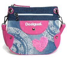 Desigual Bols Sandia Umhängetasche Schultertasche Kinder Mädchen Blau Jeans