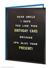 Brainbox CANDY compleanno cartoline d'auguri Divertenti Novità Cheeky BARZELLETTA UMORISMO ZIO