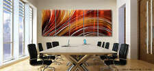 Large Modern Abstract Metal Wall Art Painting - Distant Journey XL by Jon Allen